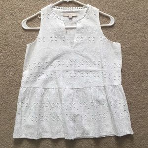 NWT white dress top